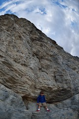 Ted and Lone Rock (JasonCameron) Tags: boy west cute rock climb utah kid child desert jeep 4x4 adventure lone height