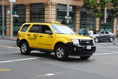 Yellow Cab Coop (So Cal Metro) Tags: sf sanfrancisco ford yellow escape cab taxi yellowcab suv taxicab cuv