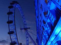(Cagsawa) Tags: uk blue england london eye tourism wheel millenniumwheel lumix pier high unitedkingdom blues londoneye capsule ferris tourist millennium southbank ferriswheel british tall touristattraction