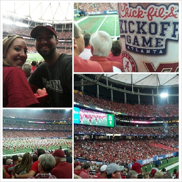 Weekend of Alabamaness with Lisa.#football #kickoff #alabama #vatech #atlanta