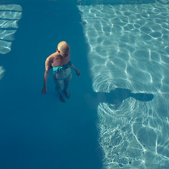Blue (Fang Tong) Tags: blue shadow water pool girl sunshine swimming swimmer tong fang tgam:photodesk=colour2013