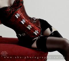 Breathless (AKA Photography.co.uk) Tags: red black fashion skirt corset fishtail