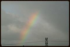 Rainbow Rays (Zelda Wynn) Tags: rain weather spring rainbow pylon auckland rays avondale cloudscape troposphere zeldawynnphotography