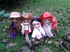 The blythes go out on a Autumn day.