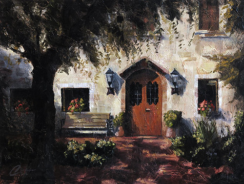 Sirmione, Italy, Sunlit Courtyard