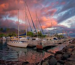 Sunset Above Lahaina (mojo2u) Tags: sunset hawaii harbor maui lahaina lahainaharbor nikond800 nikon28300mm