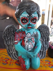 Day of the Dead Sculpture Art (shaire productions) Tags: california people holiday art halloween dayofthedead dead photography death oakland photo artwork colorful image arts culture celebration mexican event creation photograph diadelosmuertos muertos fruitvale cultural imagery mexicanamerican