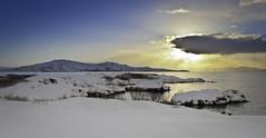 Þingvallavatn (geh2012) Tags: sun lake snow clouds iceland þingvellir ísland snjór vatn sól ský geh þingvallavatn gunnareiríkur