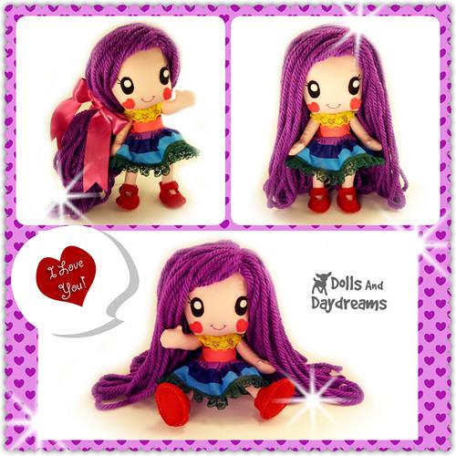 Anime Chibi Manga Kawaii Girl Cute Doll Sewing Pattern Japanese ...