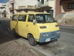 Mitsubishi Colt Delica T120 (occama) Tags: old yellow mystery japanese very malta retro commercial vehicle van 1970s rare colt mitsubishi delica t120