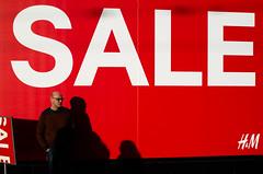 (whitecresta) Tags: red sign edinburgh day pentax sale boxing nothappy shoppingissuchajoy