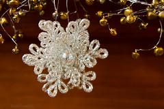glittery snowflake (Mudcat2010) Tags: snowflake christmas white tree glitter silver sale northcarolina ornament fir hanging cashiers blueridge