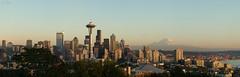 Seattle Panorama (timhwright) Tags: seattle city panorama usa mountain snow america washington cityscape space needle rainier wa