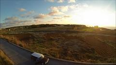 Clubman Estate x Drone (Justin__Case) Tags: road sunset sea classic car vintage austin ir island death drive bay video estate mini malta collection cooper minicooper proof hd 80 1980 leyland malte clubman 1080 rih fomm irri
