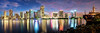 Miami Pano (Sky Noir) Tags: travel panorama skyline reflections photography cityscape miami citylights fl bluehour skynoir