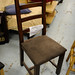 Solid oak framed dining chair