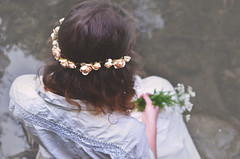 Persephone i {159} (Delicate Little Things Photography) Tags: flowers portrait creek 35mm soft 365 persephone
