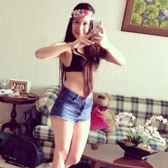Jennifer Andes (lindabelle1980) Tags: shirtless hot sexy ass girl self naughty asian tit legs boobs fb butt bra cheeks denim shorts hottie pinay filipina tease noshirt facebook selfshot shortshorts buttcheeks selfie cutoffs asscheeks notop fbhottie