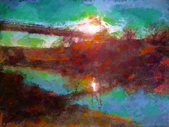 Melvern Outlet (flynryon) Tags: sunset sun inspiration painterly reflection texture mike water mobile digital studio landscape warmth surreal photographic canvas photograph kansas organic recent ryon fingerpainted iphone artstudio brushstroke emulate vividimagination scumble fingerpainter ipainting iphoneart awardtree fingerpaintedit flynryon ipaintings iamda