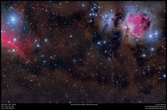 The Great Orion Nebula & Surrounds (Terry Hancock www.downunderobservatory.com) Tags: sky space astronomy astrophotography astroimaging orion qhy367c universe cosmos