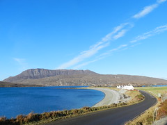 Ardmair, West Coast of Scotland, Feb 2017 (allanmaciver) Tags: ardmair ullapool shore stones skimming blue sea streaks ben more coigach houses holiday cottage crve road caraven site watch viewpoint allanmaciver