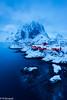 Hamnøy (Norway) (renan4) Tags: lofoten winter fjord snow hamnoy reine sea water mountains beach island norway europe north travel trip nikon d800 1635mm renan4 renan gicquel redhouse bluehour night lights