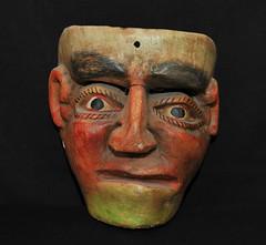 Mexican Mask Nahua Guerrero (Teyacapan) Tags: mexico mask mascara guerrero riobalsas nahua man hombre faces crafts folkart
