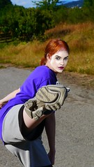 Self Defense (swong95765) Tags: defense woman female lady redhead kick defend beauty pretty athletic foot