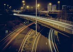 Crossover (rgcxyz35) Tags: lighttrails scotland motorway transit city road nightphotograohy longexposure traffic glasgow