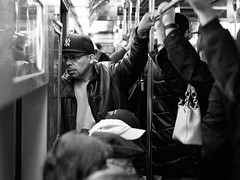NYC Metro Rushhour (danielsteuri) Tags: danielsteuri switzerland world streetphotography olympus omd em10 mft microfourthird 14mm 45mm blackwhite bw candid moments moment creativecommons explore scout bestcamera primelens portrait scene scenery strassenfotografie fotografie city snap photography street unposed crop streetmonkey flowingones