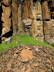 Columnar basalt mural (Pictoscribe) Tags: pictoscribe columnar basalt formations art 40117 wa ice age floods grande ronde lava flows