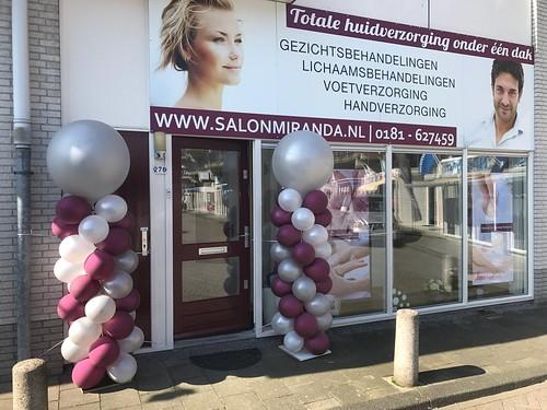 Ballonpilaar Breed Rond Salon Miranda Spijkenisse