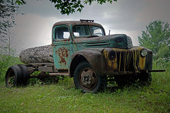 old ass logging truck (Wil James) Tags: elements sonya77mk2 rust truck ontario outdoor canada