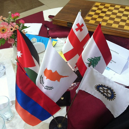 Flags of #Rotarian countries participating in #PETS2017 #TRF100 in Armenia #Rotary district #2452