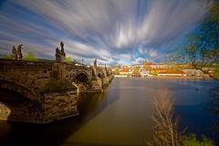Easter in Prague- long exposure (Jo_Mart) Tags: prague eastern long exposure moldau charles bridge cityscape sky blue clouds