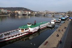 Moored Boats (Hythe Eye) Tags: prague praha czechrepublic boats barges