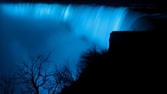 Niagara Falls at night - blue (christineliphoto) Tags: slowshutterspeed nature city landscape longexposure water canada waterfall niagarafalls