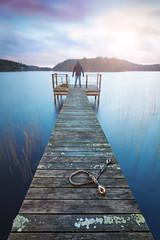 Landvettersjön (Geoffrey Gilson) Tags: me selfie selfportrait landscapes waterscapes long exposure tripod filters jetty goteborg sweden landvettersjon sunrise nature magical keep exploring