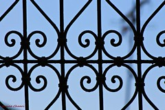 Wrought iron designs (tunisia) (aminechaari01) Tags: wroughtiron art design fer ferforger old medina tunisia traditionnel arabic beautiful beauty blue sky canon 1100d 75300mm window view islamic