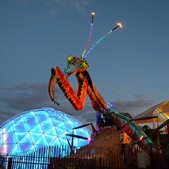 Fremont Street Las Vegas (mysuspira) Tags: fremontstreet lasvegas vegas mantis art sculpture
