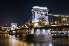 Chain Bridge - Budapest (lucien_photography) Tags: budapest hongrie hu hungary bridge night dark lights urban architecture longexposure city chainbridge buda pest danube széchenyilánchíd