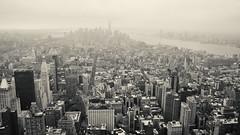 Lower Manhattan Skyline (nyanc) Tags: lowermanhattan manhattan city citytrip newyork newyorkcity america view uitzicht unitedstates usa empirestatebuilding skyline lowermanhattanskyline downtownmanhattan downtown ny nyc vs bw blackandwhite blackwhite building structure travel monochrome nikon
