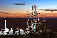 A frame full of Grace (alun.disley@ntlworld.com) Tags: gracedarling theblackpearlnewbrighton hoylakebeach wirral landscape seascape vista night longexposure art model driftwood pirateship weather dusk beach nature welshhills merseyside flags nightlights nightsky