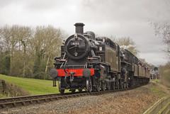Ivatt no.41312 and Ivatt no.43106 (alts1985) Tags: ivatt no41312 no43106 hampton loade severn valley railway spring steam gala svr train worcestershire shropshire 170317 180317