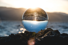 Inverted landscape (joshhansenmillenium) Tags: nikon d5500 photography tamron 18200mm crystal ball utah lake state park ensign peak salt city hiking nature water waves sunsets mountains sunset layers provo adventure capitol building island reflections refractions