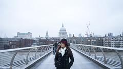 20161217 Millennium Bridge - London B (photos by @lifeinvisuals) Tags: travelblog travel blog traveller traveler travels trip vacation shaherald muslimtraveller muslimtraveler honeymoon musafir london england uk unitedkingdom holiday millenniumbridge bridge millennium riverthames thames