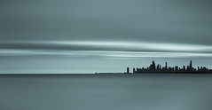 City on the Lake (Philocycler) Tags: chicagoist chicago city skyline longexposure montrose canon canon5dmarkiii ef1740mmf4l