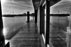 MirD3 (Svendborgphoto) Tags: nikon denmark d3 mirror nautical monochrome bw blackandwhite building bridge sigma 247028 sea water