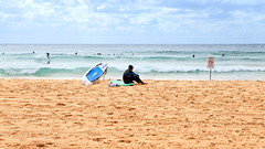 63+440: When the waves just aren't running for you (geemuses) Tags: manly mqanlybeach beach water wind waves sand sea surf northernbeaches clouds storms weather sun rain surfers surfing