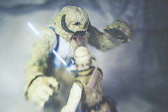 Disarmed (3rd-Rate Photography) Tags: starwars wampa lukeskywalker hoth lightsaber toy toyphotography empirestrikesback snow canon nikon lenswhacking freelens freelensing 50mm jacksonville florida 3rdratephotography earlware actionfigure blackseries